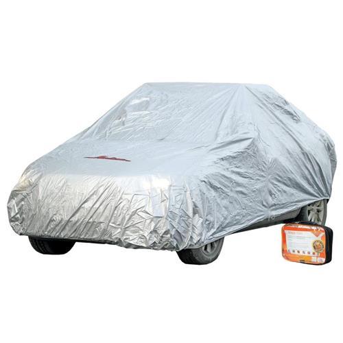 Чехол-тент на автомобиль защитный, размер s 455х186х120см,серый, молния для двери,универ. AIRLINE ACFC01