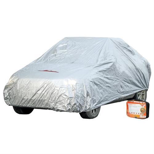 Чехол-тент на автомобиль защитный, размер l 520х192х120см,серый, молния для двери,универ. AIRLINE ACFC03