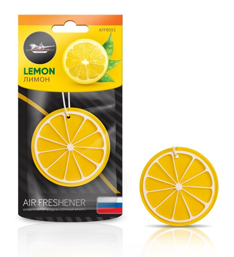 Ароматизатор подвесной пластик ''сочный фрукт'' лимон AIRLINE AFFR092