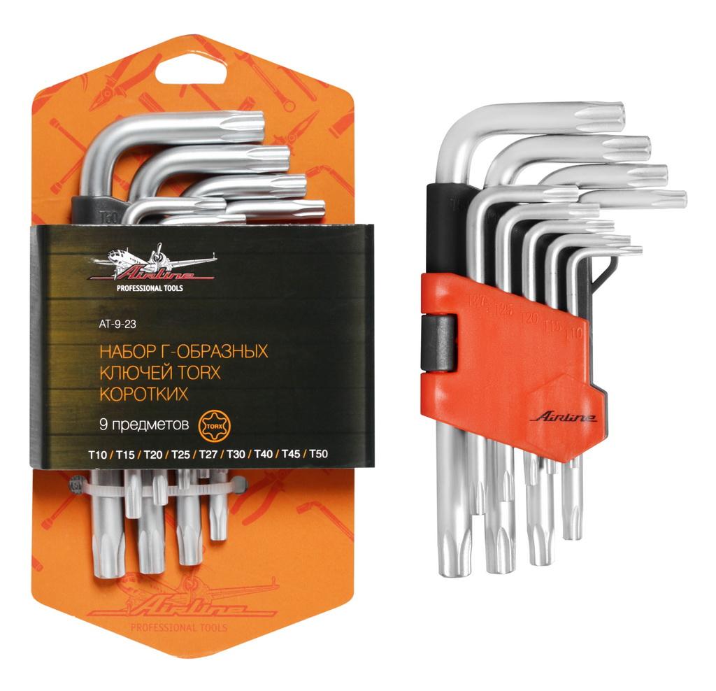 Набор Г-образных ключей TORX с отв. коротких AIRLINE AT923