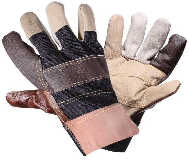 Перчатки кожаные, комбинированные, защитные от механических повреждений AIRLINE AWGS13