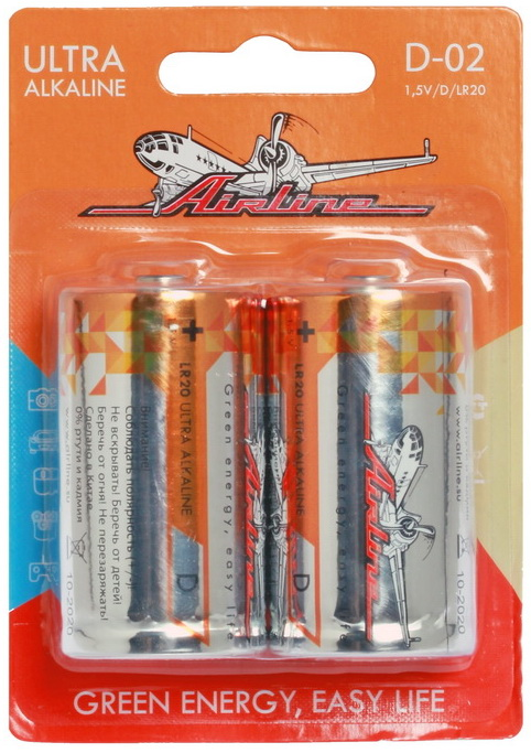 Батарейки AIRLINE D02