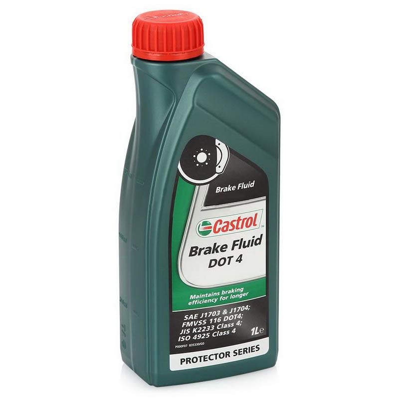 Castrol Brake Fluid DOT4, 1 литр (15036B,157D5A)