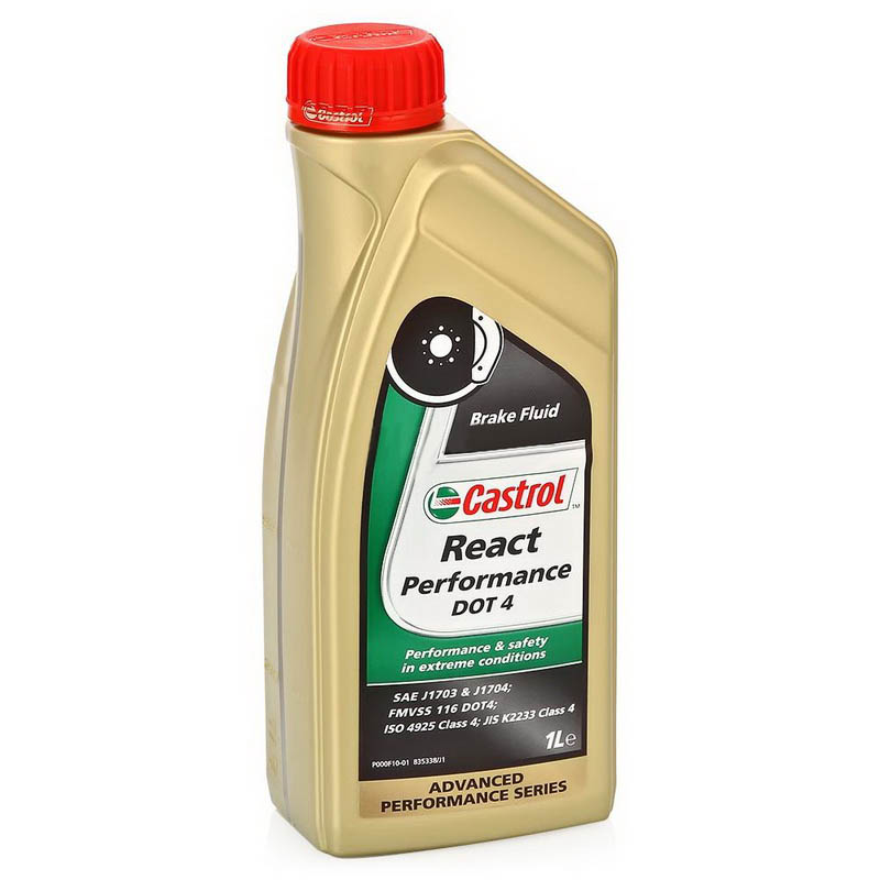 Castrol React Perform DOT4, 1 литр (15037E,157F8B)