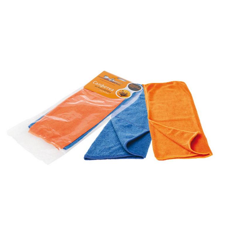 Набор салфеток из микрофибры, синяя и оранжевая (2шт., 30x30 см) AIRLINE ABV01