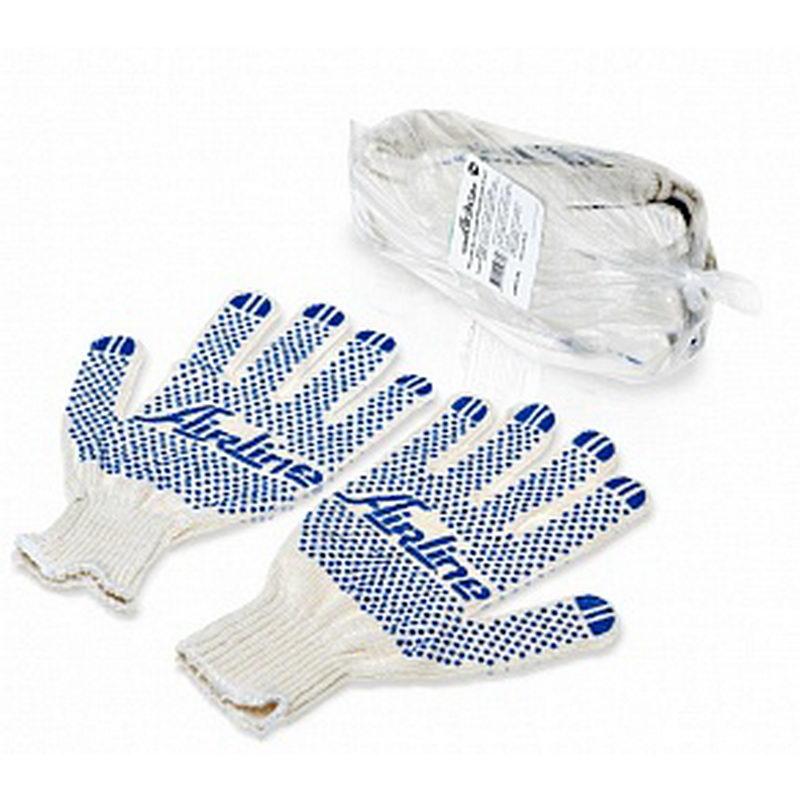 AIRLINE Перчатки комплект с точечным ПВХ покрытием (5 пар) (AWGC01)