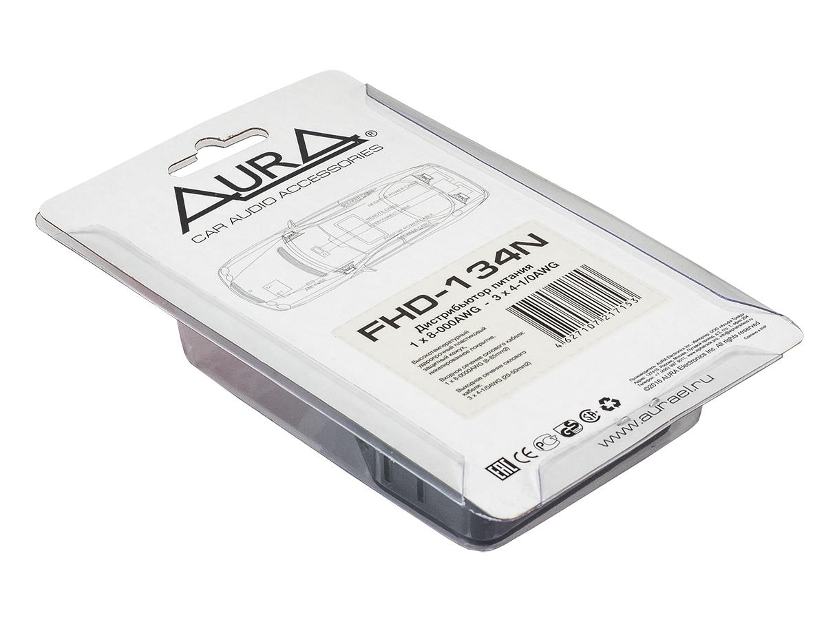 Разветвитель питания 1x8-000ga вход-3x4-0ga выход (aura) fhd-134n AURA FHD134N