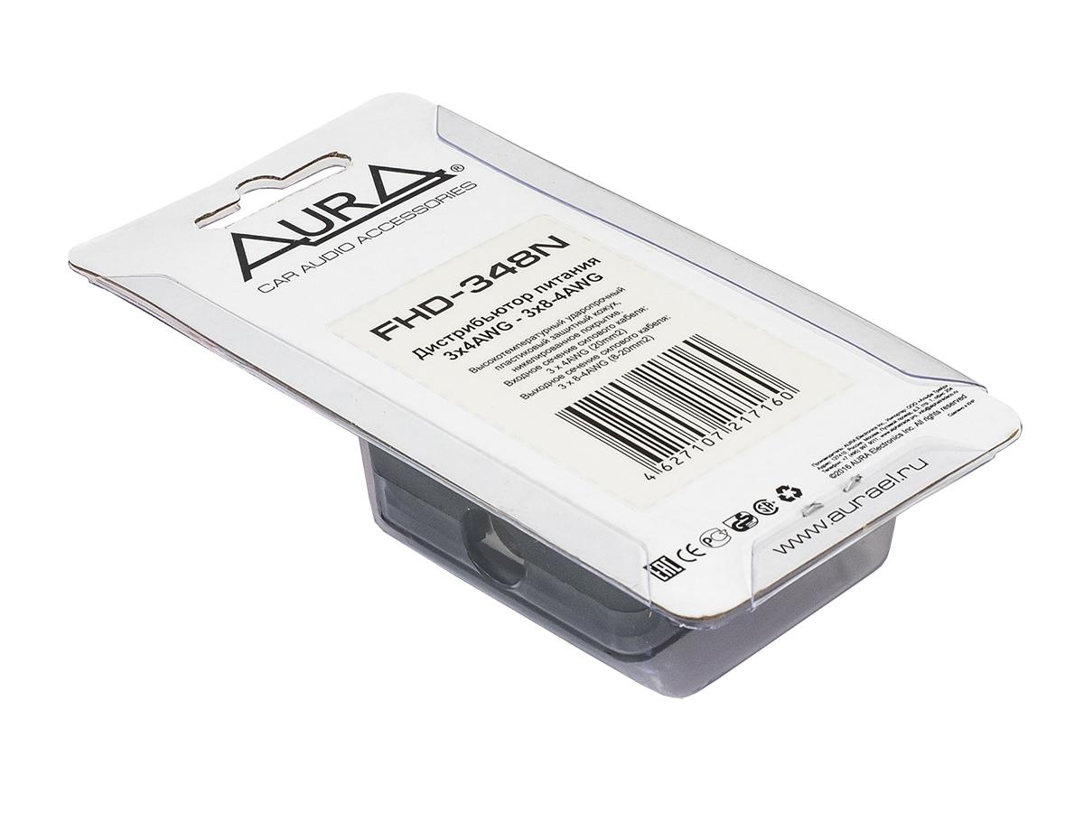 Разветвитель питания 3x4ga вход-3x4/8ga выход (aura) fhd-348n AURA FHD348N