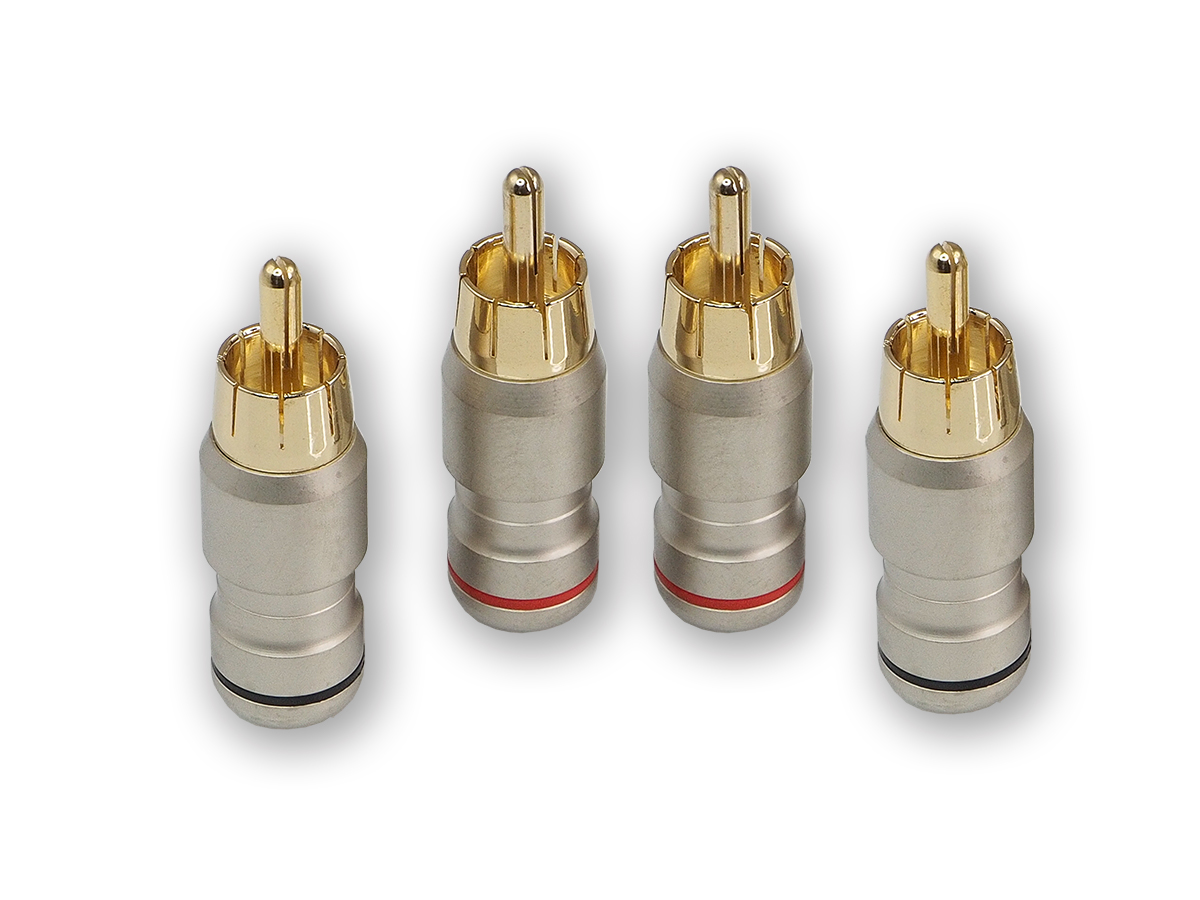 Коннектор rca aura rca-p614 (6 мм) вход (комплект 4 шт) AURA RCAP614