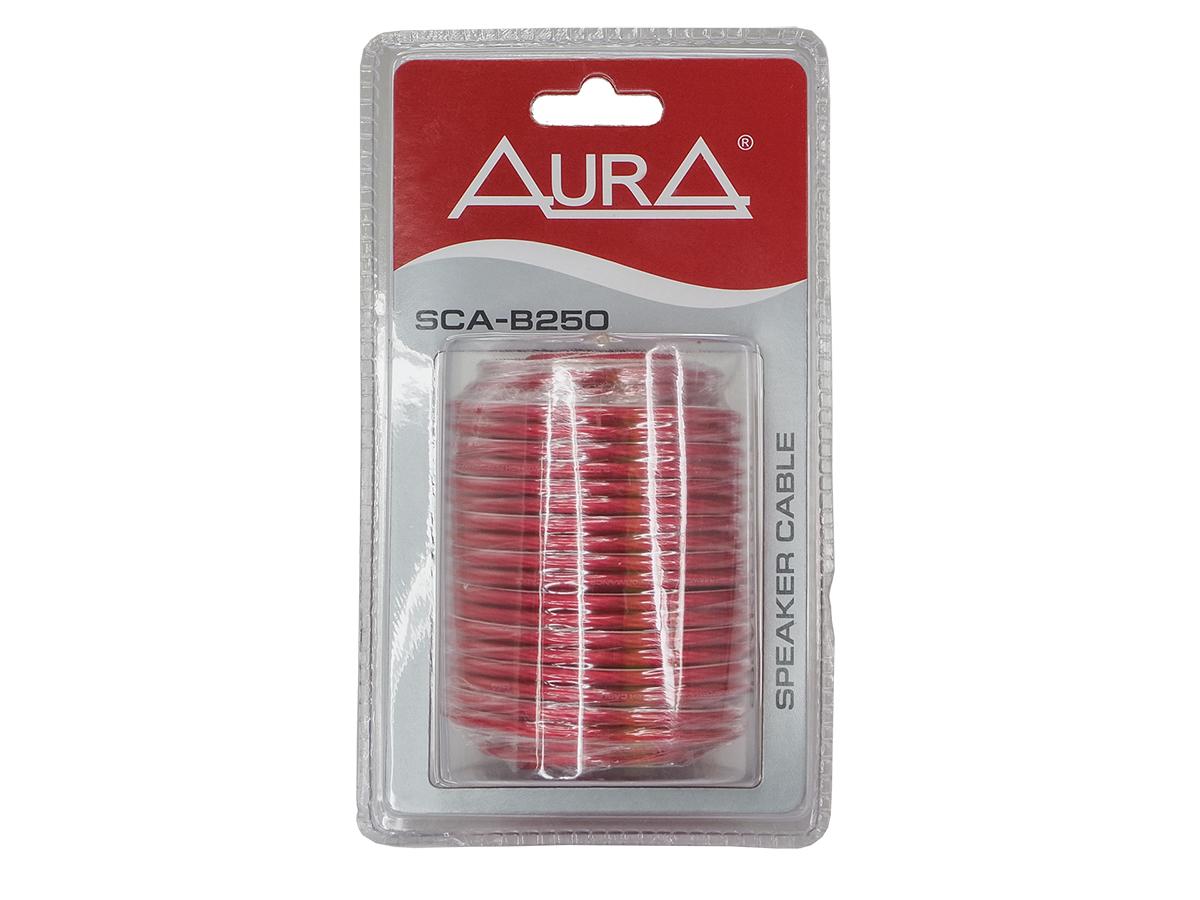 Кабель акустический 14awg (d 2,5 мм) aura 10 м красный прозрачный sca-b250 (блистер) AURA SCAB250