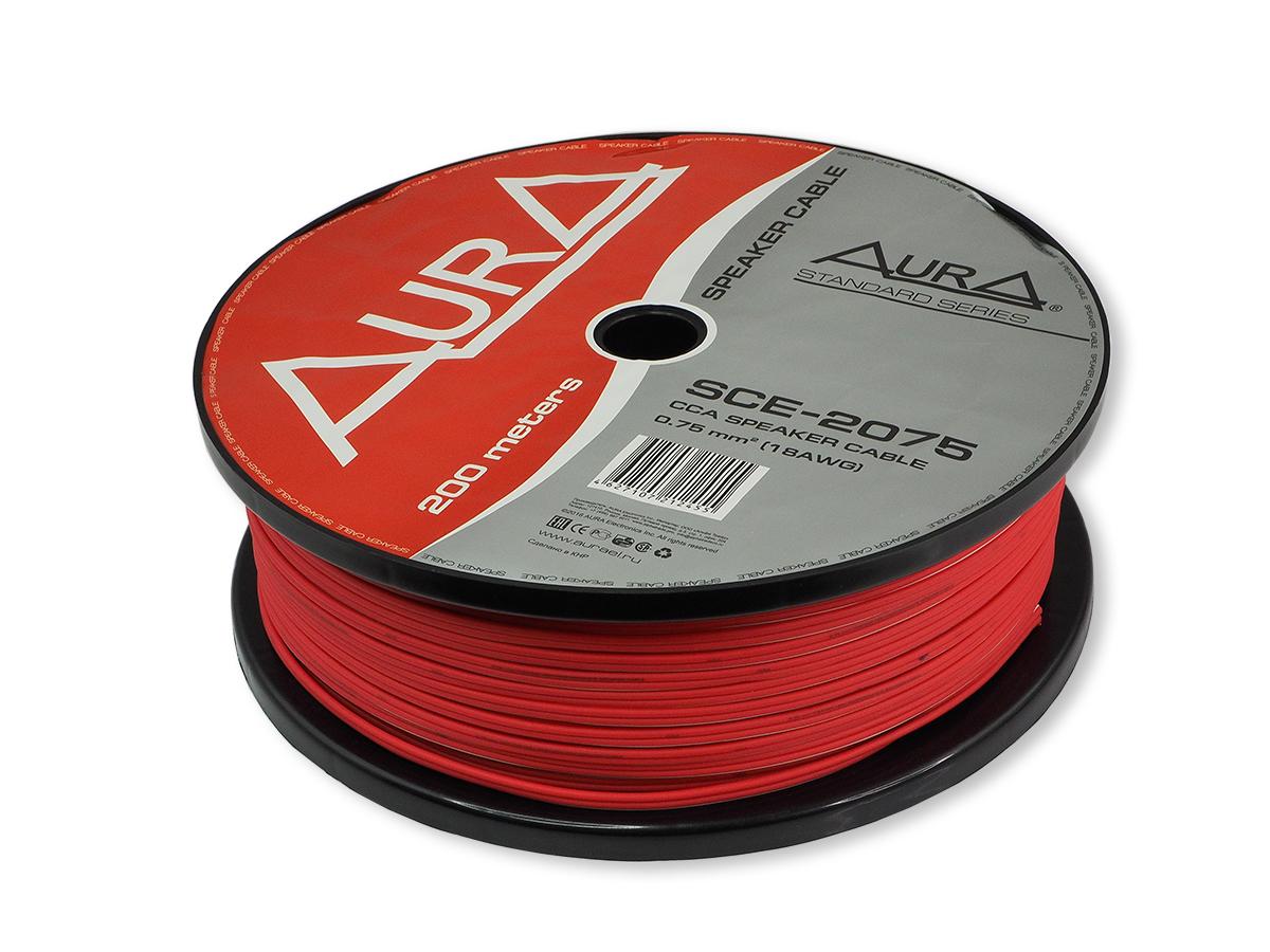 Кабель акустический 18awg aura (2х0,75мм2) красный sce-2075 AURA SCE2075