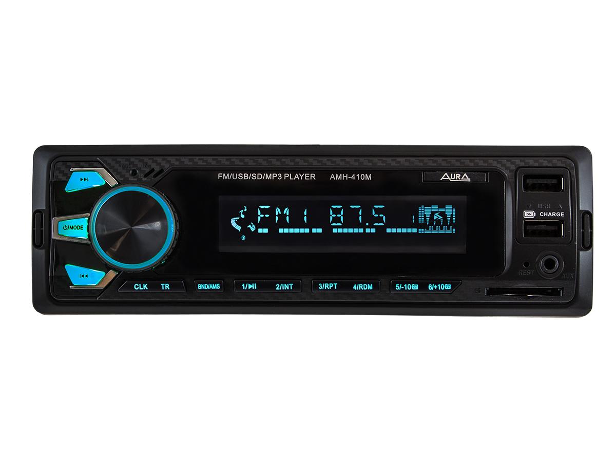 Автомагнитола 1din. aura amh-410mq /мультицвет/usb/sd/fm AURA AMH410MQ