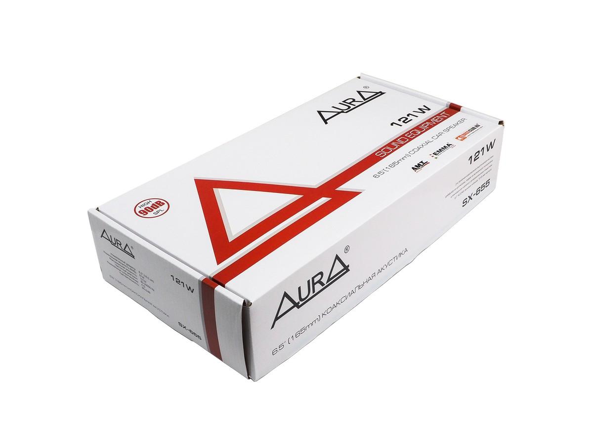 Акустика 16,5см 2-х полосная aura (sx-655) 50вт коаксиальная AURA SX655