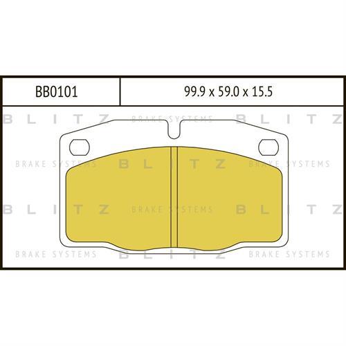 Колодки тормозные дисковые BLITZ BB0101. Тормозные колодки BLITZ .