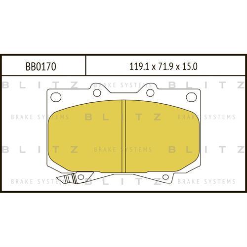 Колодки тормозные дисковые BLITZ BB0170. Тормозные колодки BLITZ .