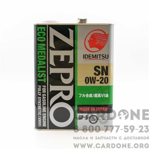 Idemitsu Zepro Eco Medalist 0W20 4 л (3583-004)