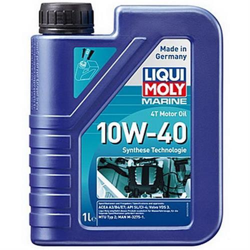 LIQUI MOLY Marine 4T Motor Oil 10W40 1 л Моторное масло для лодок синтетическое