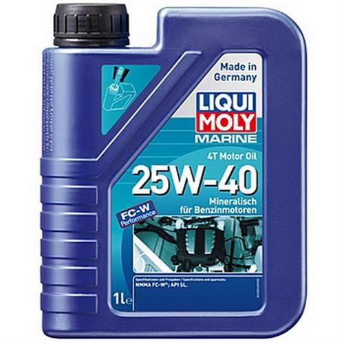 LIQUI MOLY Marine 4T Motor Oil 25W40 Моторное масло для лодок минеральное 1л