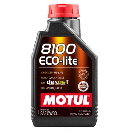 8100 eco-lite 5w-30 100% synth. 4 l (104988, 107251) MOTUL 108213. Масло в двигателе MOTUL .