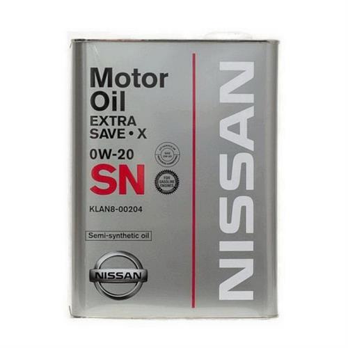 NISSAN EXTRA SAVE X 0W20 SN / Моторное масло полусинтетическое (4л) KLAN8-00204