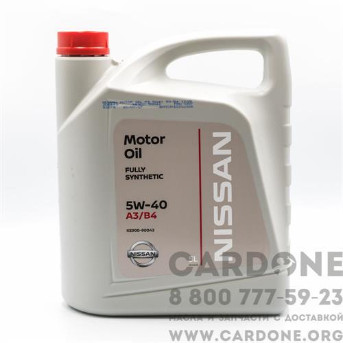NISSAN Motor Oil 5w40, 5 л (KE90090042R)