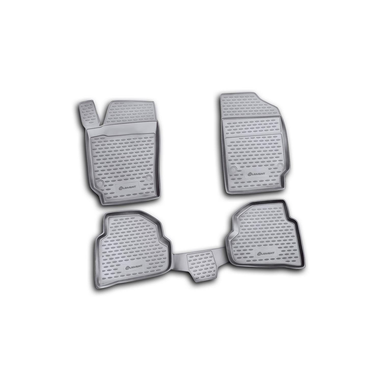 Коврики в салон 4 шт. (полиуретан) VW Polo сед. 10 ELEMENT NOVLINE-AUTOFAMILY NLC5130210K