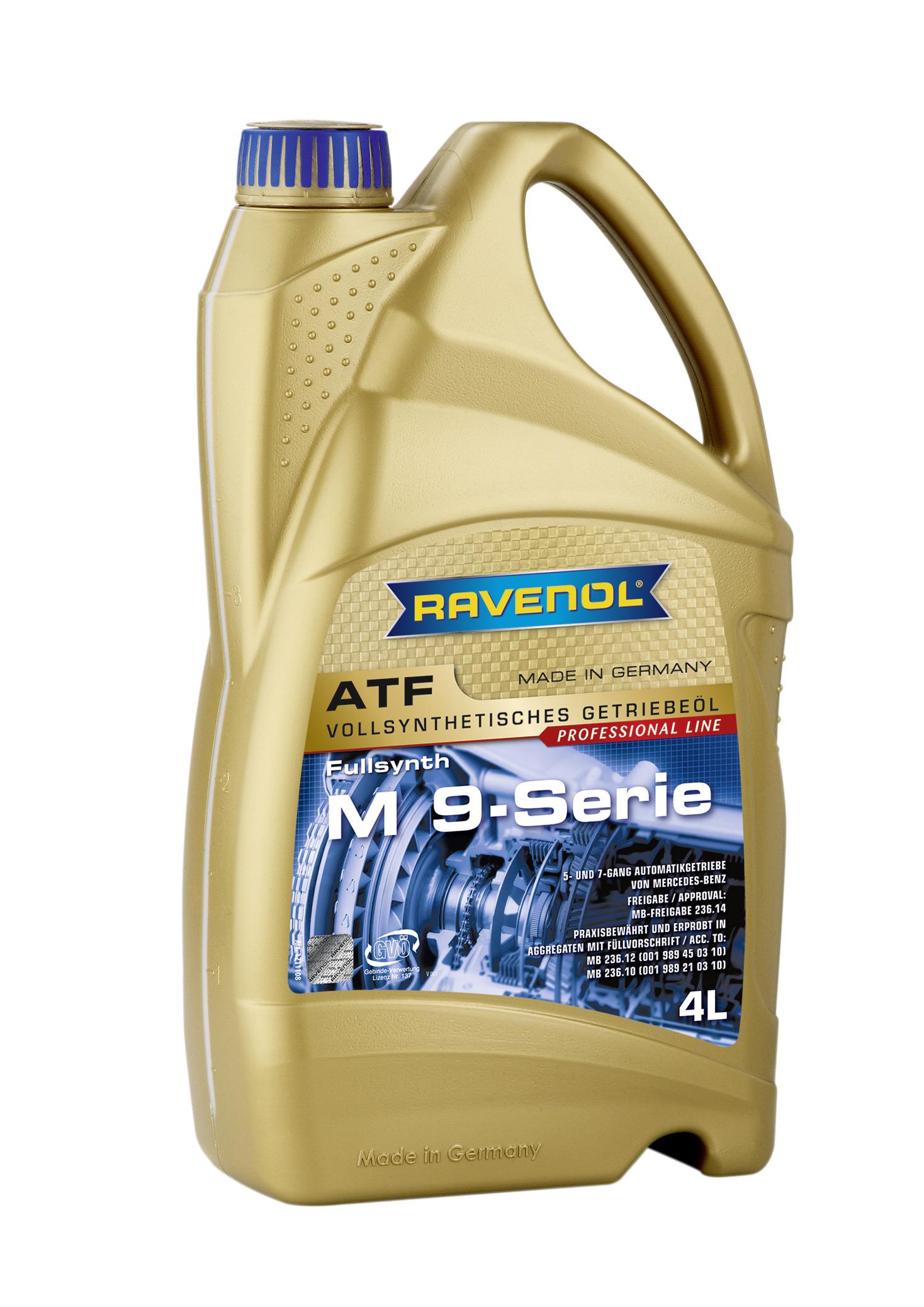 Трансмиссионное масло RAVENOL ATF M 9-Serie ( 4л) new 4014835732490