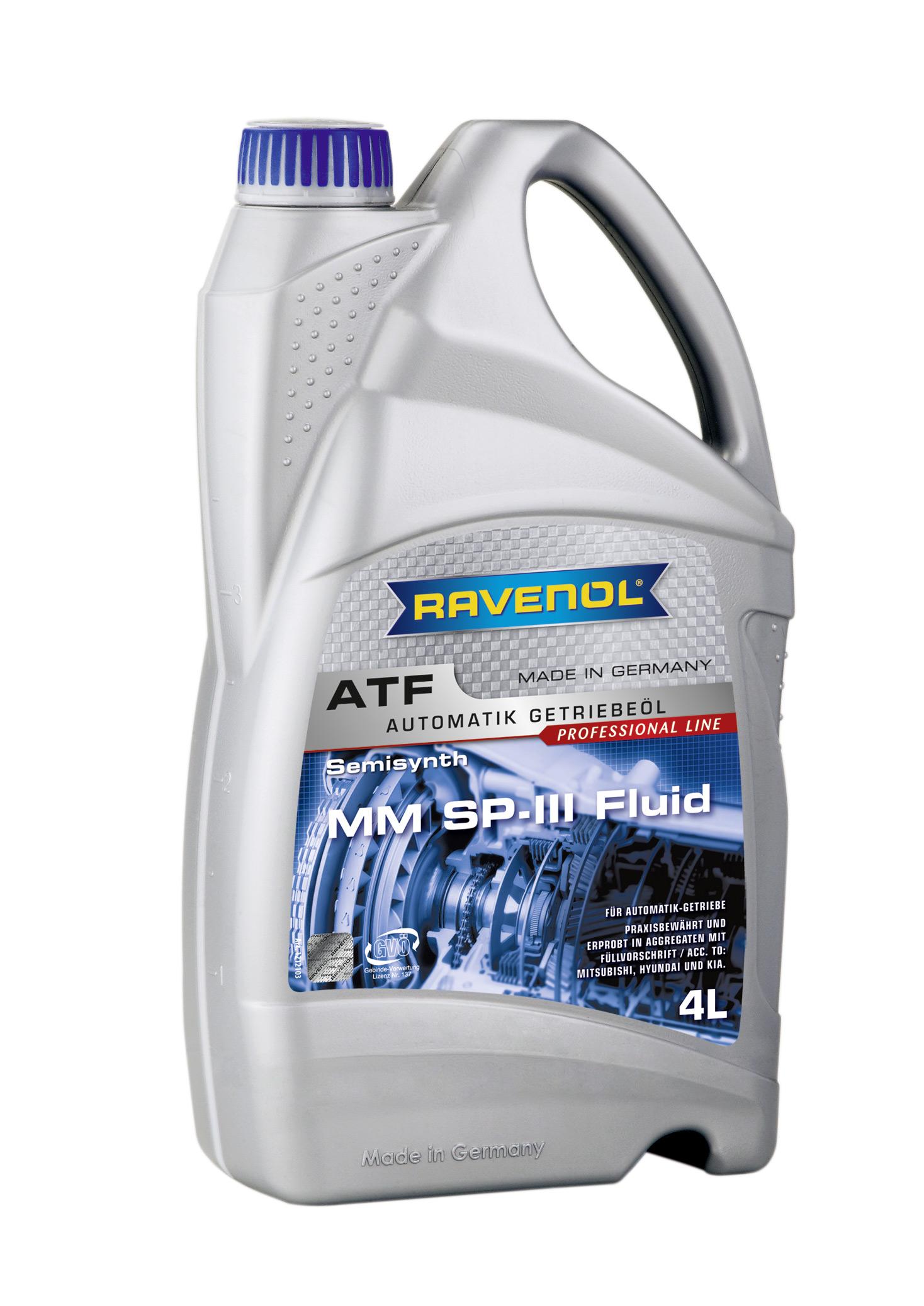 Трансмиссионное масло RAVENOL ATF MM SP-III Fluid ( 4л) new 4014835733190
