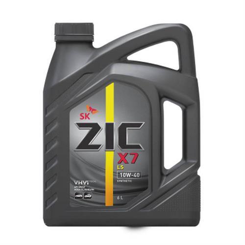 ZIC X7 LS 10W40 6л. Масло в двигателе ZIC 10W40.