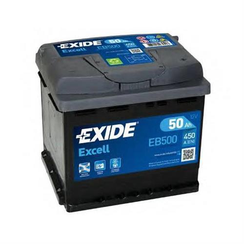 Аккумуляторная батарея 19.5/17.9 евро полярность 50Ah 450A 207/175/190 EXIDE EB500