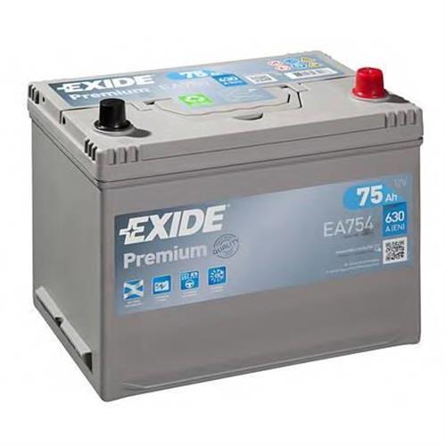 Аккумуляторная батарея 19.5/17.9 евро полярность 75Ah 630A 272/170/225 EXIDE EA754