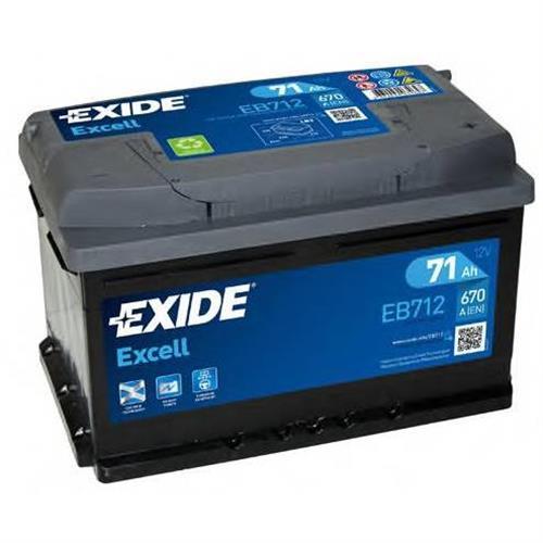 Аккумуляторная батарея 19.5/17.9 евро полярность 71Ah 670A 278/175/175 EXIDE EB712