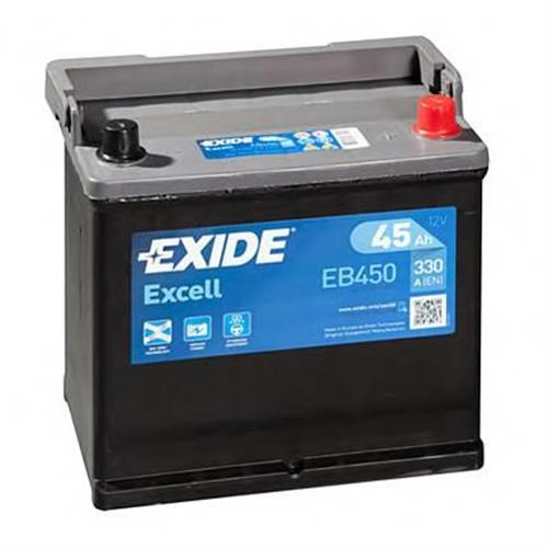 Аккумуляторная батарея 19.5/17.9 евро полярность 45Ah 330A 218/133/223 EXIDE EB450