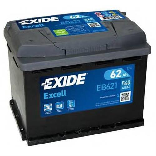 Аккумуляторная батарея 19.5/17.9 прямая полярность 62Ah 540A 242/175/190 EXIDE EB621
