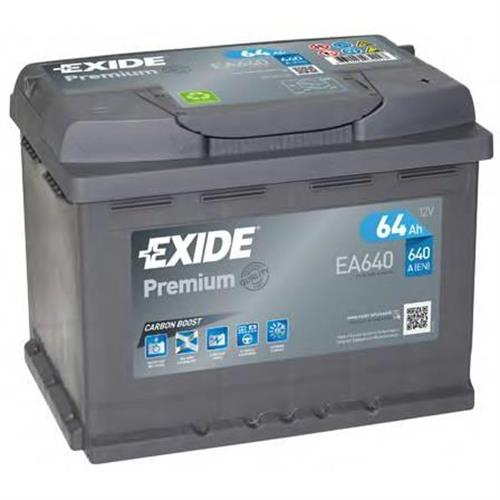Аккумуляторная батарея 19.5/17.9 евро полярность 64Ah 640A 242/175/190 EXIDE EA640