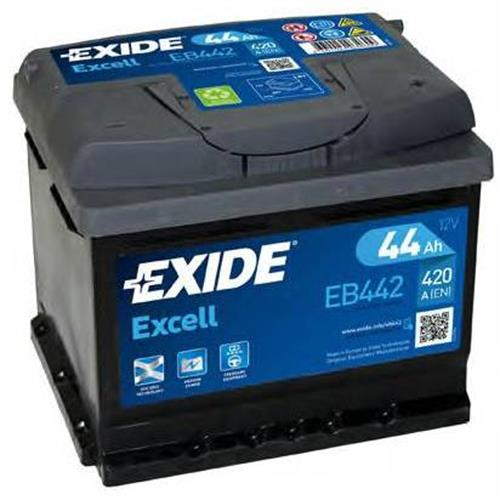 Аккумуляторная батарея 19.5/17.9 евро полярность 44Ah 420A 207/175/175 EXIDE EB442