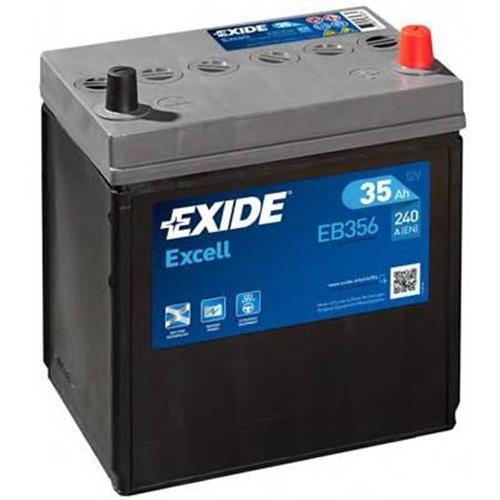 Аккумуляторная батарея 14.7/13.1 евро полярность 35Ah 240A 187/127/220 EXIDE EB356