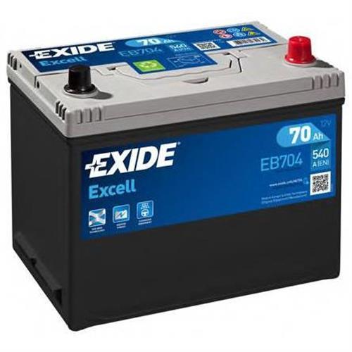 Аккумуляторная батарея 19.5/17.9 евро полярность 70Ah 540A 270/173/222 EXIDE EB704