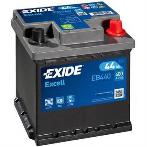 Аккумуляторная батарея 19.5/17.9 евро полярность 44Ah 400A 175/175/190 EXIDE EB440