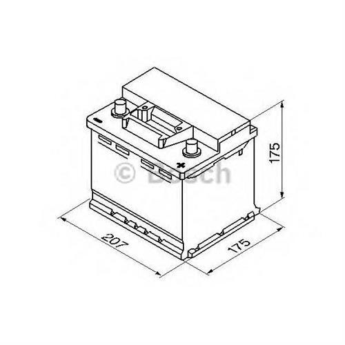 Аккумуляторная батарея 19.5/17.9 евро полярность 41Ah 360A 207/175/175 BOSCH 0092S30010