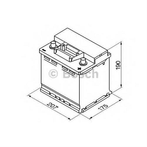Аккумуляторная батарея 19.5/17.9 евро полярность 45Ah 400A 207/175/190 BOSCH 0092S30020