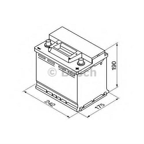 Аккумуляторная батарея 19.5/17.9 евро полярность 56Ah 480A 242/175/190 BOSCH 0092S30050