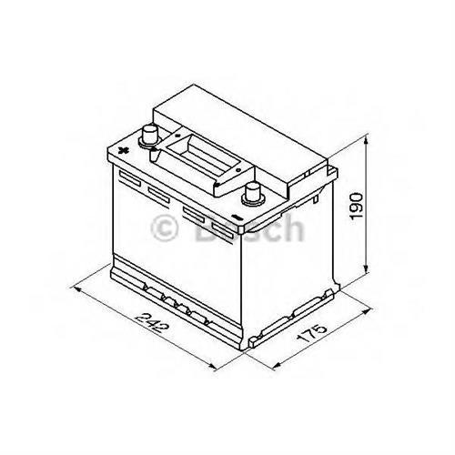 Аккумуляторная батарея 19.5/17.9 прямая полярность 56Ah 480A 242/175/190 BOSCH 0092S30060