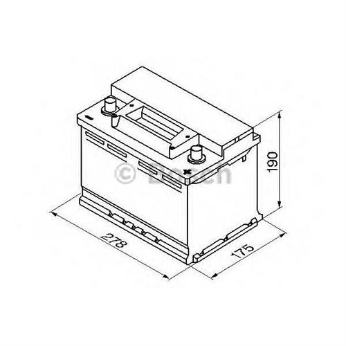 Аккумуляторная батарея 19.5/17.9 евро полярность 70Ah 640A 278/175/190 BOSCH 0092S30080