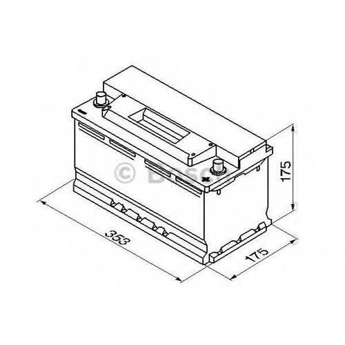 Аккумуляторная батарея 19.5/17.9 евро полярность 88Ah 740A 353/175/175 BOSCH 0092S30120