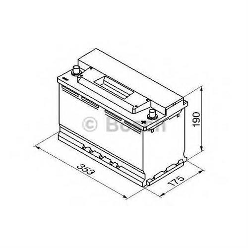 Аккумуляторная батарея 19.5/17.9 евро полярность 90Ah 720A 353/175/190 BOSCH 0092S30130