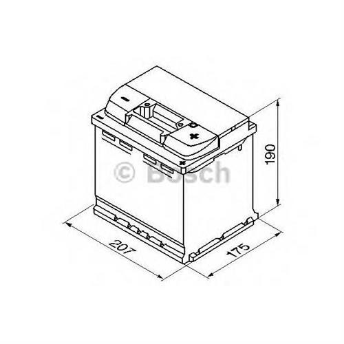 Аккумуляторная батарея 19.5/17.9 евро полярность 52Ah 470A 207/175/190 BOSCH 0092S40020