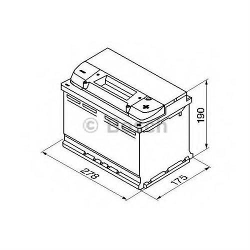 Аккумулятор S4 74Ah 680A плюс справа 278x175x190 BOSCH 0092S40080