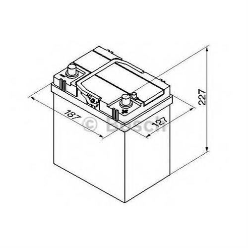 Аккумуляторная батарея 14.7/13.1 евро полярность 40Ah 330A 187/127/227 BOSCH 0092S40180