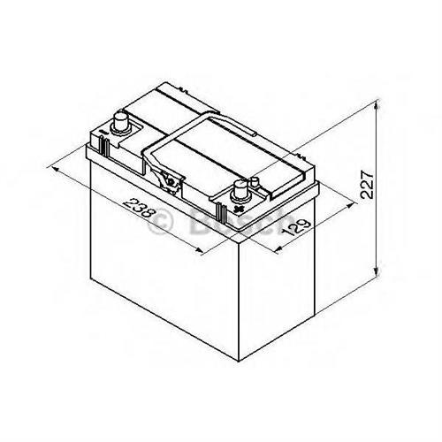 Аккумуляторная батарея 14.7/13.1 евро полярность 45Ah 330A 238/129/227 BOSCH 0092S40200